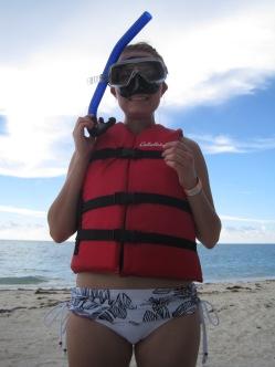 Ready to snorkel! The Bahamas 2012.