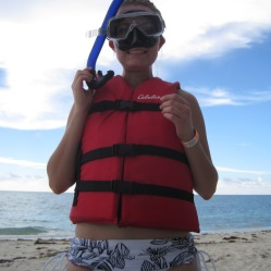 Ready to snorkel! The Bahamas 2012.